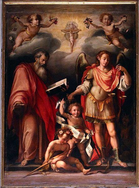 Firenze - Chiesa di San Giovanni Battista della Calza - L'Empoli - San Giovanni Evangelista e l'arcangelo Gabriele