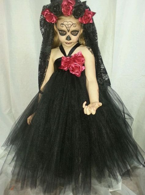 Day of the dead baby girl tutu 3yr-6yr by Beautiful Bree Bree's Tutus