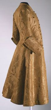 Man's Coat, c. 1730-45, Silk damask  Made in England  Artist/maker unknown, English