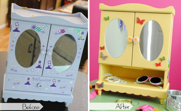 Before and After Jewelry Box Makeover with Mod Melts - Jenna Burger