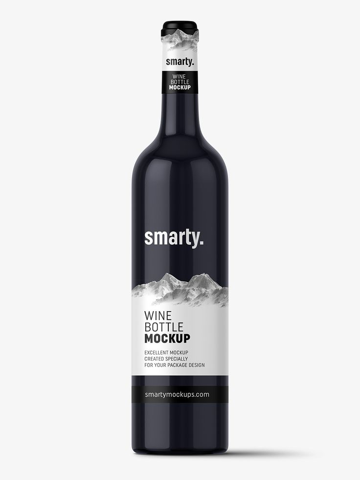 Dark glass wine mockup