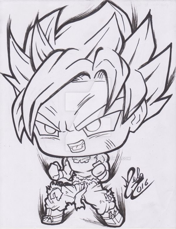 Kawaii Chibi Goku Super Sayan by FutagoFude-2insROID