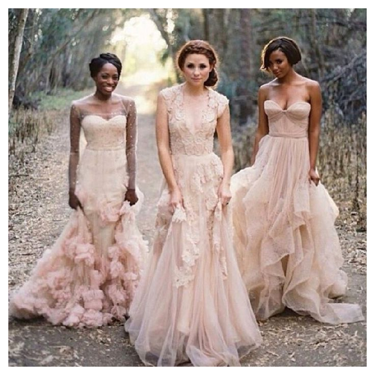 Blush Wedding Dress Bridesmaids : Find more bride on the vault beautiful blush dresses