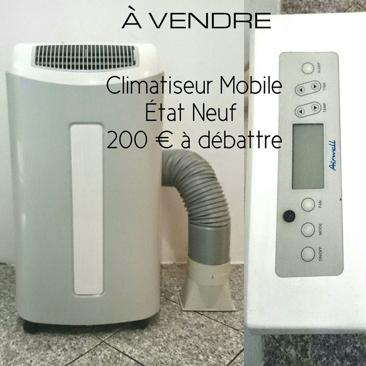 cool a vendre climatiseur mobile avec evacuation marque airwell etat quasi neuf with climatiseur. Black Bedroom Furniture Sets. Home Design Ideas