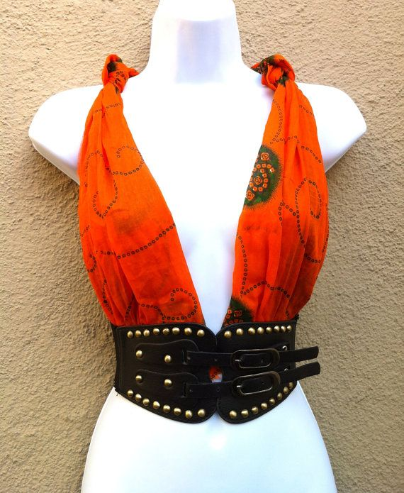 Burningman outfit Burningman clothing burning man outfit   burning man clothing  Hand Made burning man boho wrap top. $25.00, via Etsy.