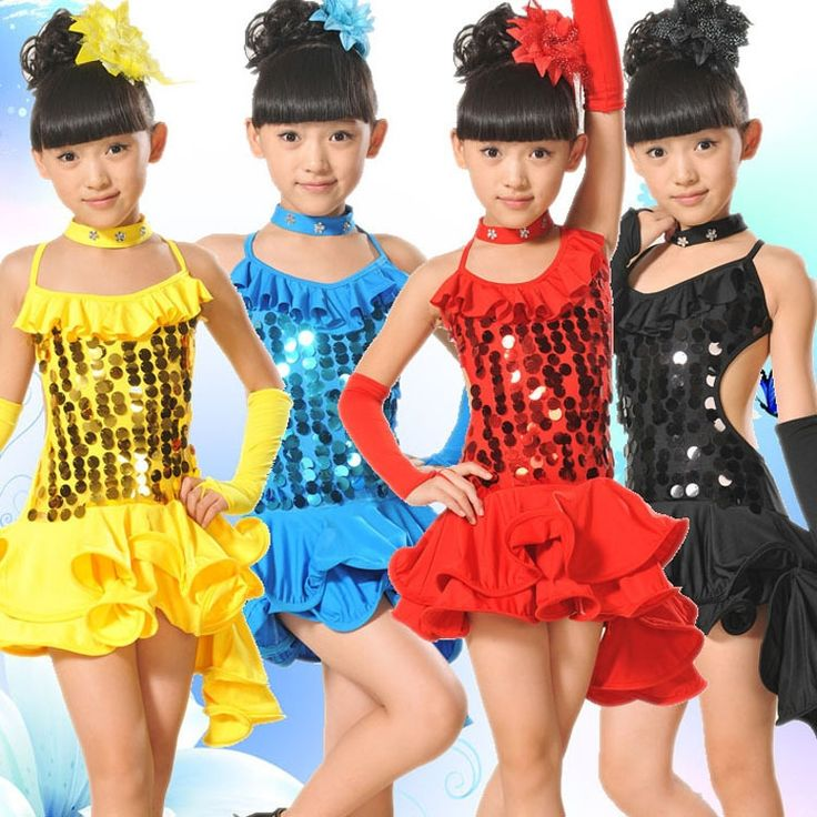 16.01$  Buy now - http://alim07.shopchina.info/go.php?t=32749098757 - Latin Dance Dress For Girls Samba Dress Ballroom Kids Dancing Dress Girl Dancewear Ballet performance costumes one piece dress  #aliexpressideas