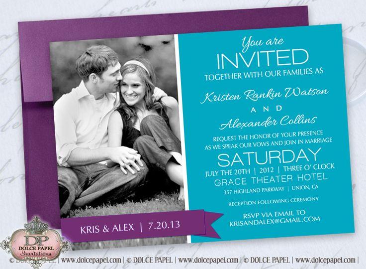 Wedding color invites
