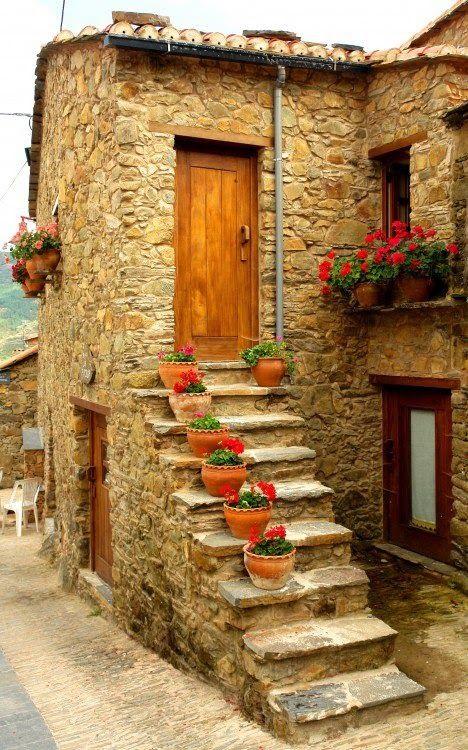 Beautiful.......Door, house, flowers..... everything!