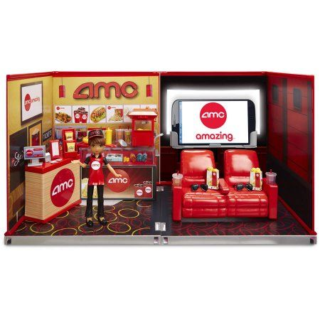 miWorld Deluxe Environment Set with Doll, AMC Movie Theater