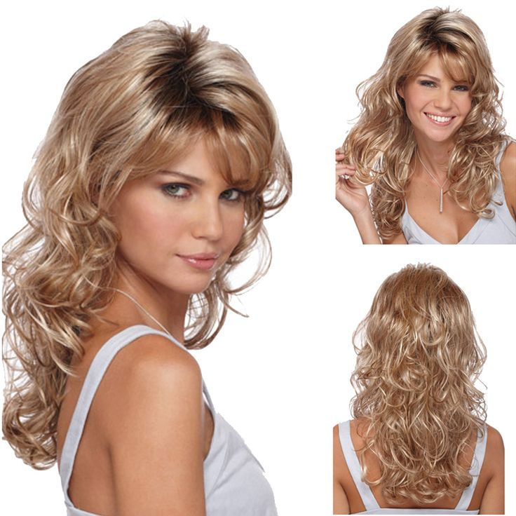 fashion brown blond wig cosplay long curly blonde wig synthetic wigs heat resistant with highlights ombre cheap wigs for women