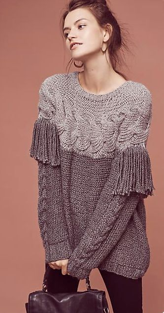 Aumar Fringed Wool Pullover