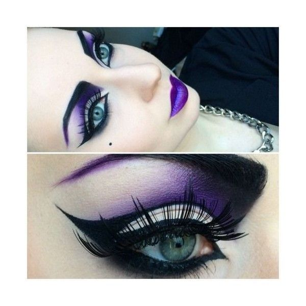 She Lost It She Had Enough And Broke Well Done — Face makeup â�¤... ❤ liked on Polyvore featuring beauty products, makeup, eyes, goth makeup and gothic makeup