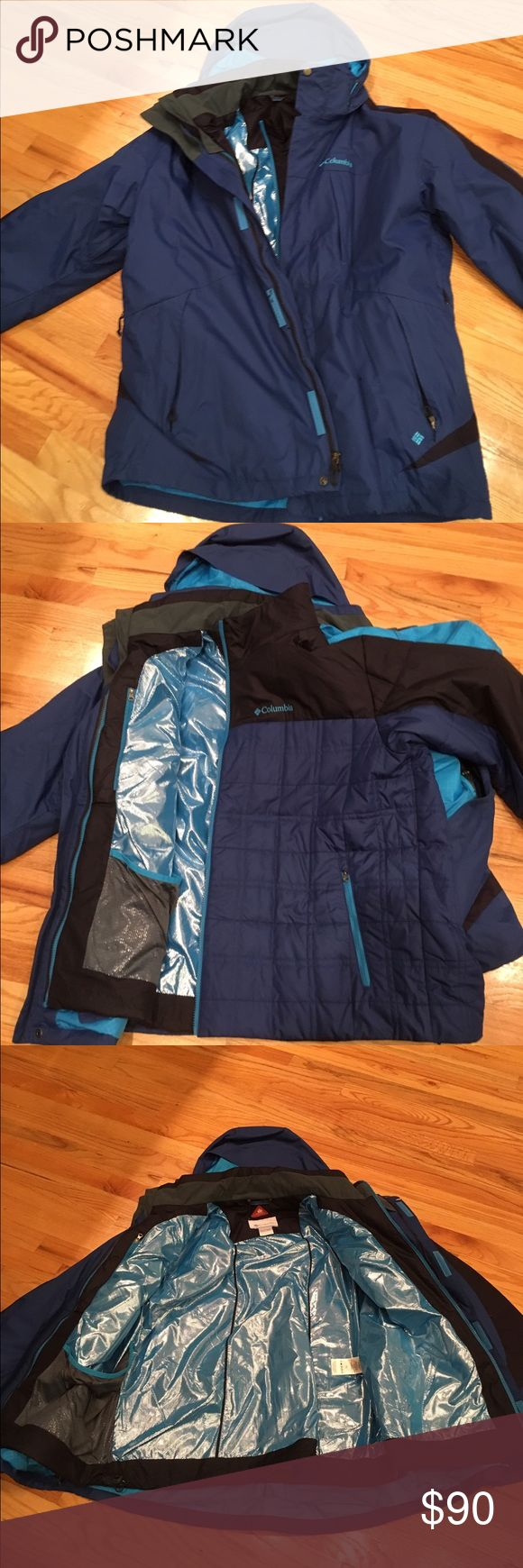 COLUMBIA Thermal Comfort Omniheat. Interchange Double lined coat. Also reversible. Brand new without tags. Like having 2 coats in one. Columbia Jackets & Coats