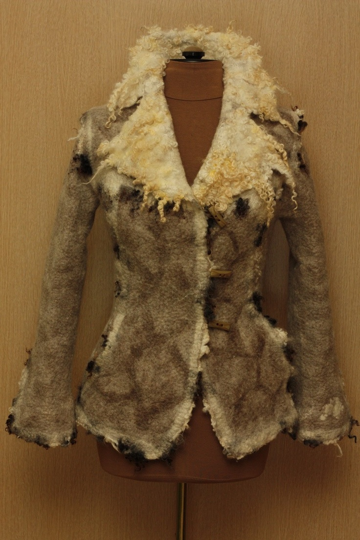 A poor lamb / Felted Clothing / Jacket by LybaV on Etsy