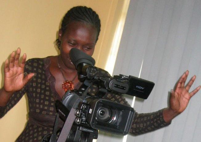 A television journalist in Kenya.