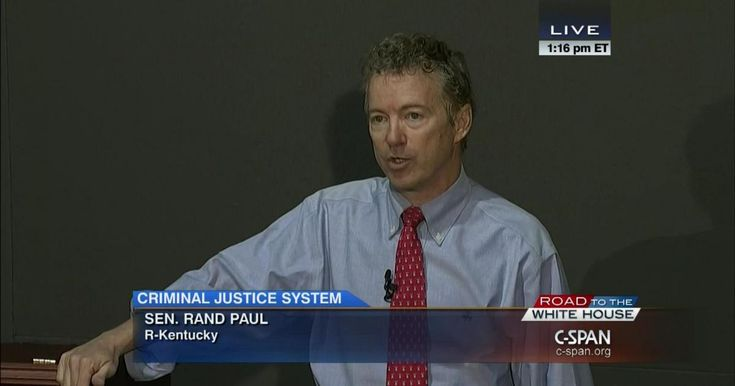 Senator Rand Paul (R-KY) delivers remarks on criminal justice reform at Bowie State University, the oldest historically black university in Maryland.