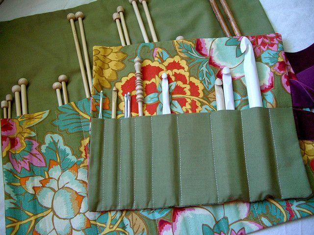 Knitting needle and crochet hook case tutorial