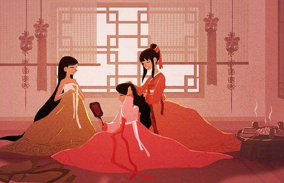 I love the representation of Korean Hanbok here.