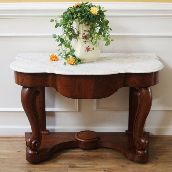 Victorian Marble Top Wash Stand Or Console Table From England Dating Back To