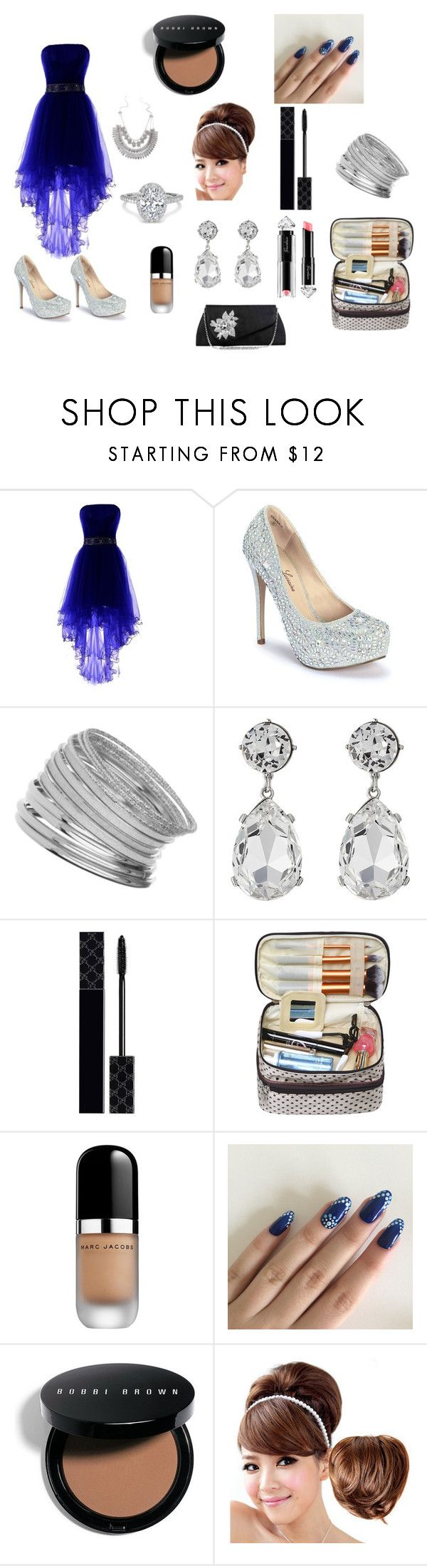 """Homecoming/Party dress"" by tkiyah-leech ❤ liked on Polyvore featuring beauty, Lauren Lorraine, Miss Selfridge, Kenneth Jay Lane, Gucci, La Petite Robe di Chiara Boni, Marc Jacobs, Bobbi Brown Cosmetics and Clair Beauty"