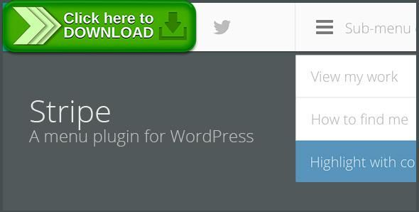 [ThemeForest]Free nulled download STRIPE - A lightweight menu plugin for WordPress from http://zippyfile.download/f.php?id=54815 Tags: ecommerce, css menu, css3, fixed menu, menu, menu plugin, menubar, navigation menu, plugin, sticky menu, wordpress, wordpress css menu, wordpress menu, wordpress menu plugin, wp menu, wp menu plugin