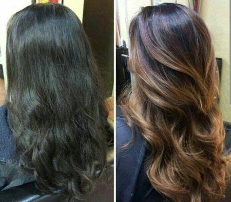 25 best balayage marron ideas on pinterest coloration marron couleur cheveux marron and - Balayage marron glace ...