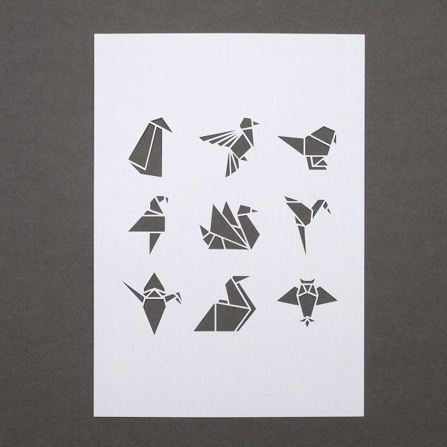 origami dog tattoo - Google Search