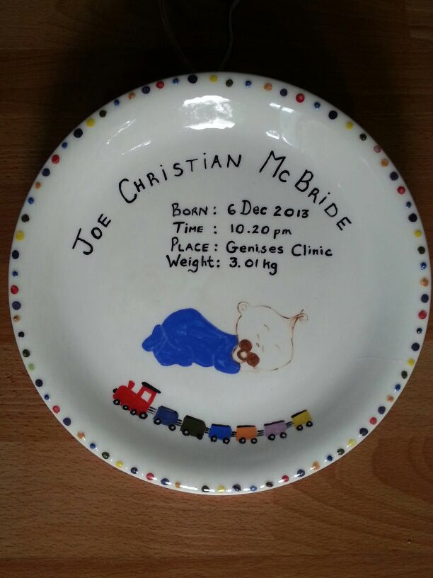 For a very special boy - hand painted by Lynda McBride