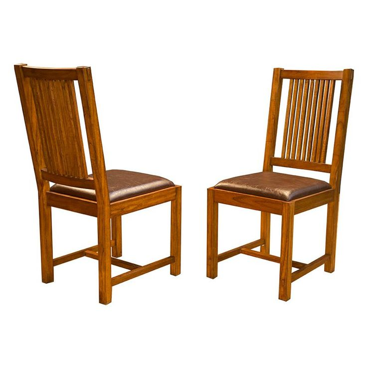 A-America Mission Hill Slat Back Side Dining Chair - Set of 2 - AAME478