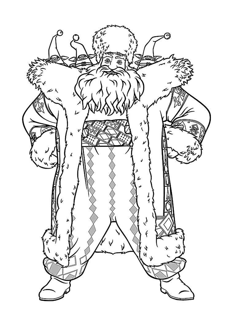 latest santa claus from rise of the guardians coloring pages for kids printable free dreamworks