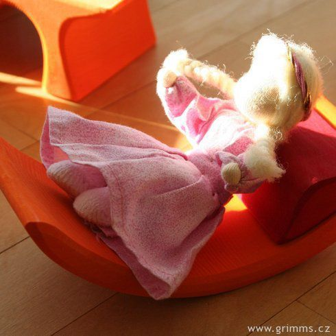 Přenosný domeček kabelka růžový - Grimm's