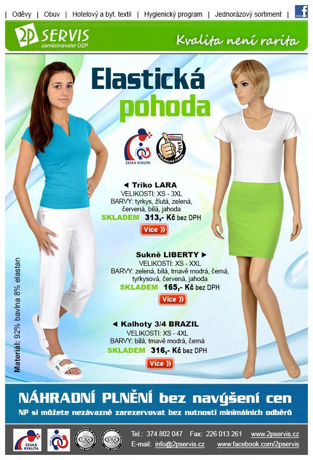 ★ ★Sukně, trika, kalhoty z příjemných elastických materiálů★ ★