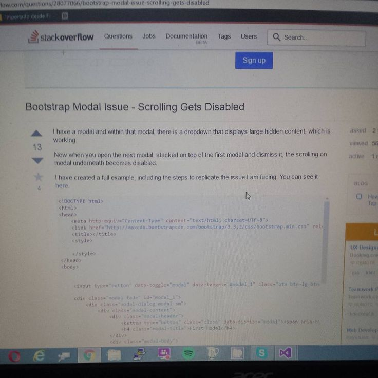 searching help in stackoverflow about bootstrap modal and scrolling issues so far