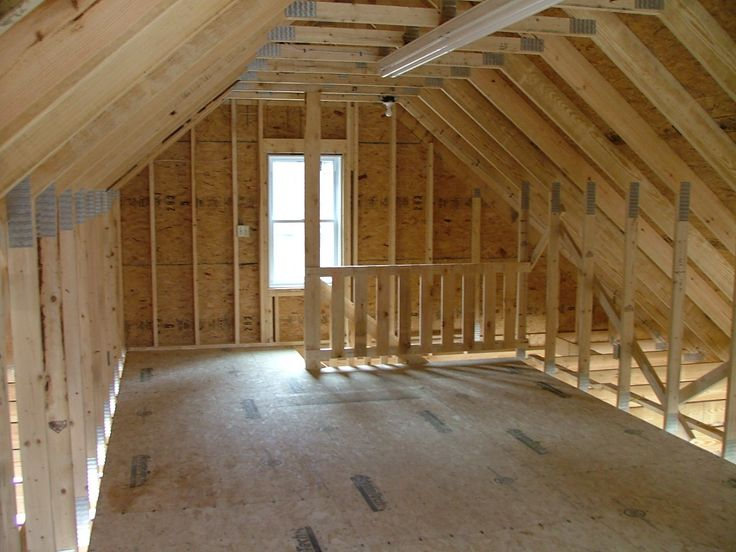 Amish Built Attic Car Garage With Loft Space: Garage Builder Rochester Milton