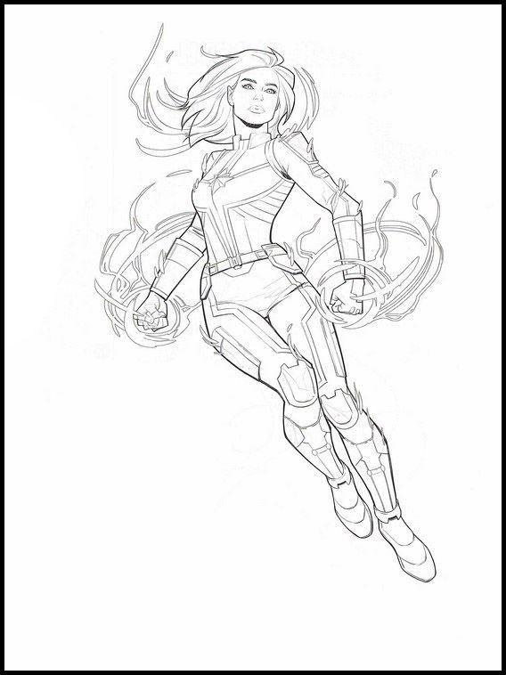 Captain Marvel Color Page Superhero Coloring Pages Superhero Coloring Avengers Coloring