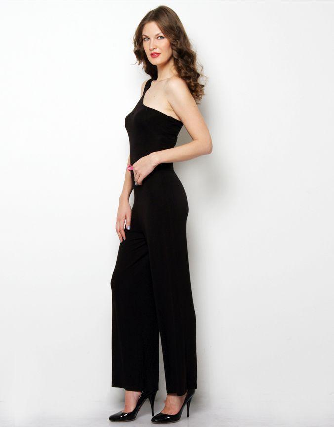 One Shoulder Jumpsuit Black. Visit for more styles ➤ www.boutique.in/