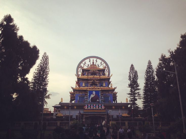 Golden Buddhist Temple in Coorg #coorg #india #karnataka #mysore #buddhist #temple #buddhism