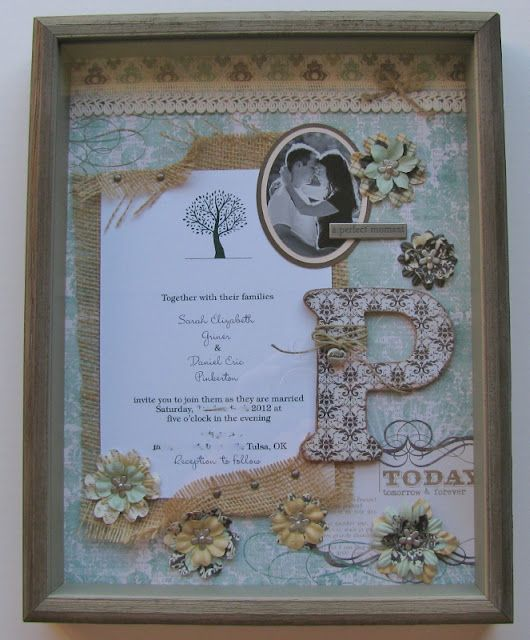 Scrappin' Becky B.: Engagement Shadow Box
