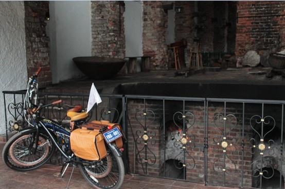 Fahrrad in Zipaquirá - Kolumbien.