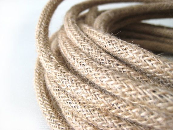 You are looking at Fabric Covered Electrical Cord (3-core): Linen This listing is for exact 20 METER in continuous length. (that is equal to 65…