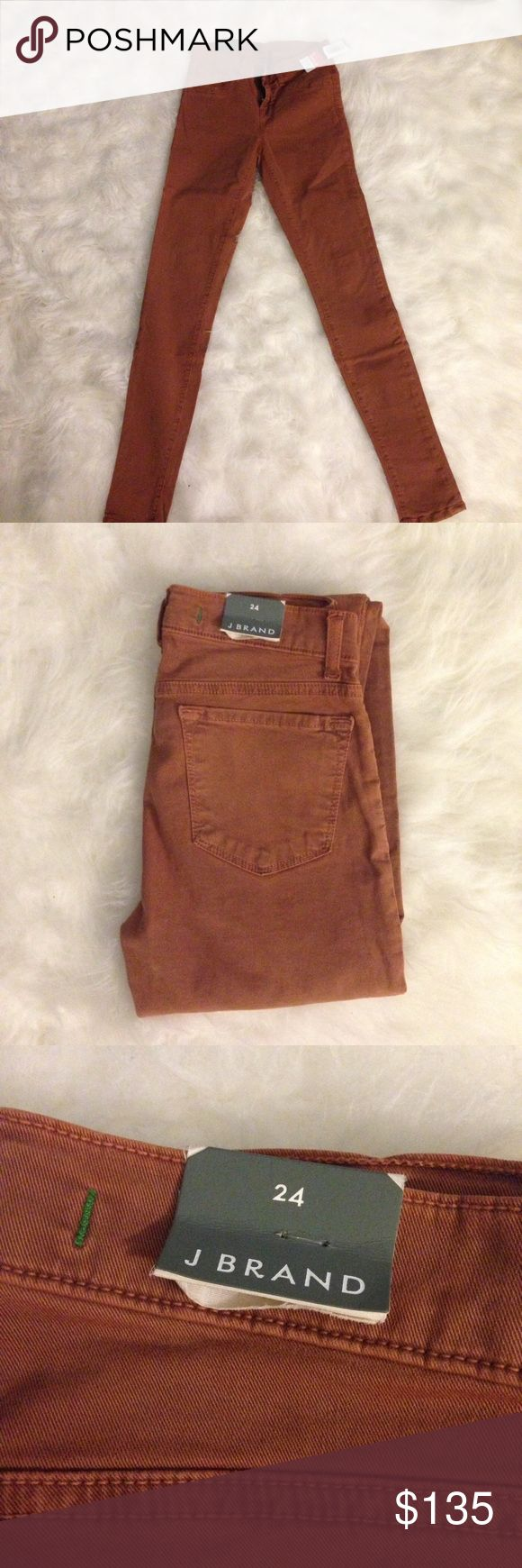 NWT J Brand Tan Brown Skinny Jeans Aritzia 24 New with tags. Brown/tan super skinny jeans. Size 24. Purchased from Aritzia. J Brand Jeans Skinny