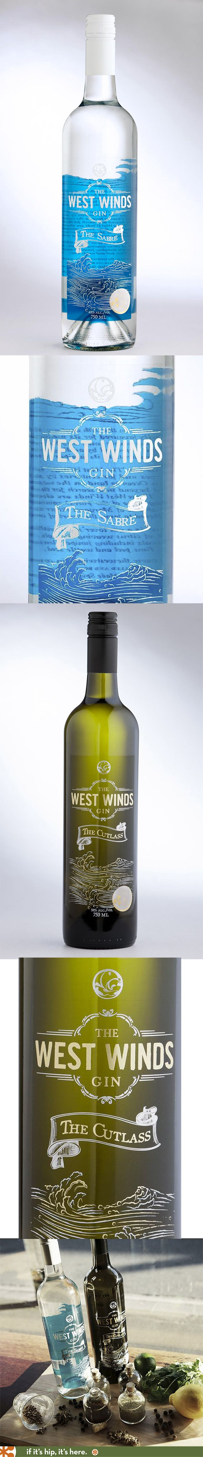 The West Wind Gin Bottles (Sabre and Cutlass) from Australia
