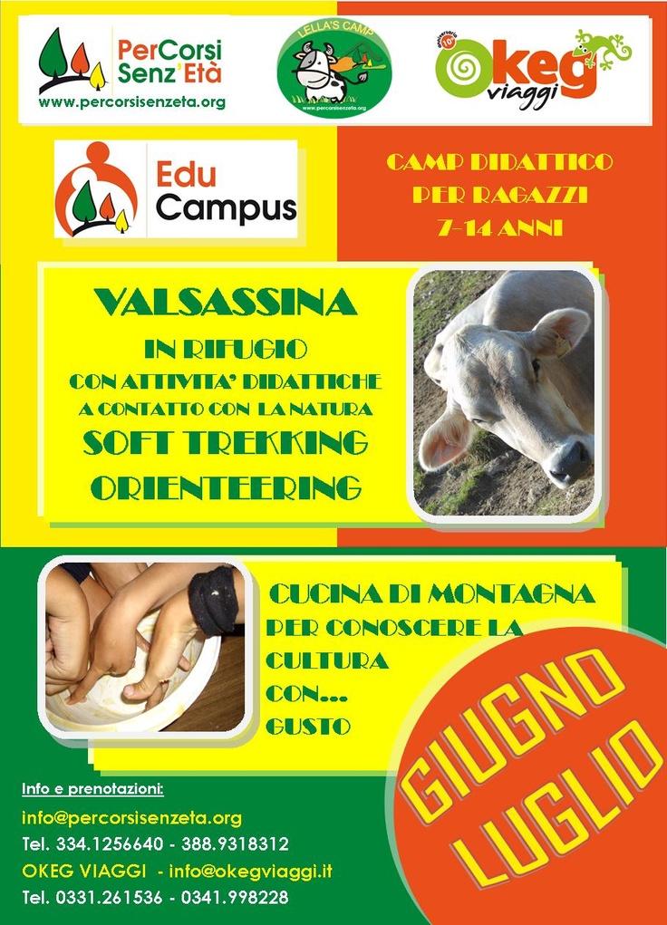 EduCampus in VALSASSINA per RAGAZZI 7-15 anni dedicato alla CUCINA DI MONTAGNA