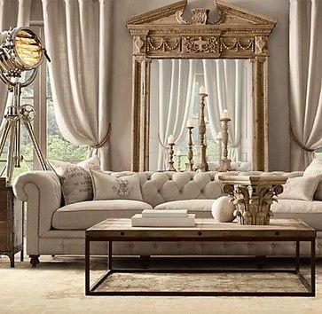Kensington Upholstered Grand Sofa | Restoration Hardware  living room