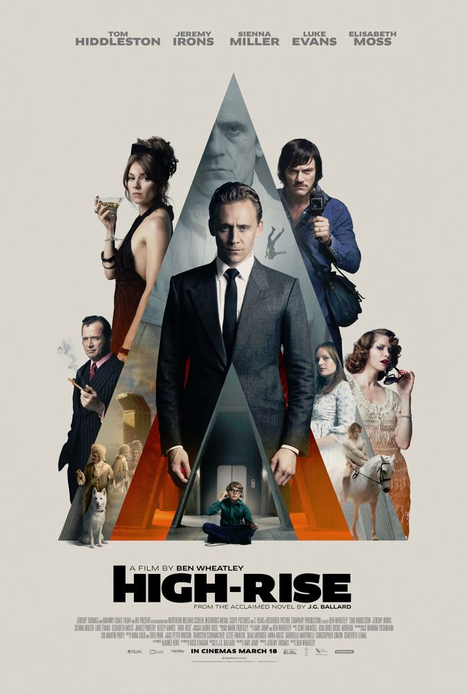 'High-Rise' Poster (Tom Hiddleston, Luke Evans, Sienna Miller, Elisabeth Moss, Jeremy Irons)