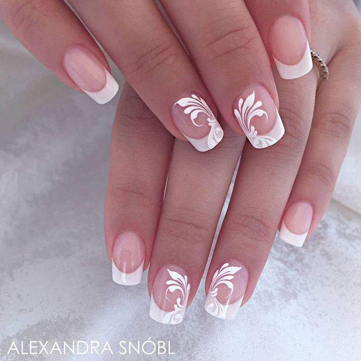 Superbes ongles de salon français par Alexa Produit utilisé: Poudre acrylique Moyra, Moyra … # …   – Nageldesign