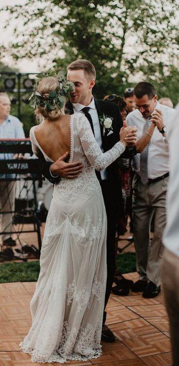 Elfenbein Brautkleider, Country Weding Kleider, böhmisches Hochzeitskleid, rust…