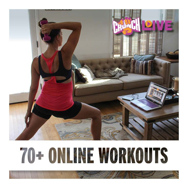 Get fit for summer with 70+ Crunch Live online workouts! From cardio and strength training to pilates, yoga and barre – there's a workout that's perfect for everyone. Start your FREE trial today at www.crunchlive.com! #CrunchLive