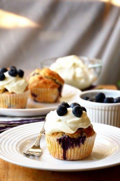 Diétás afonyás-kókuszos cupcake
