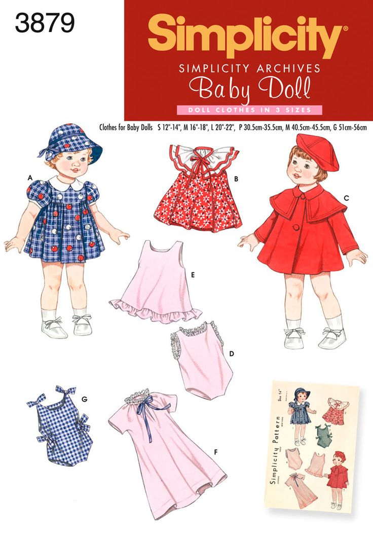 37 best images about Doll Patterns I have Simplicity on